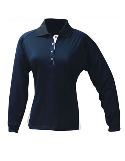 1142 THE L/SLEEVE TEAM POLO - Ladies