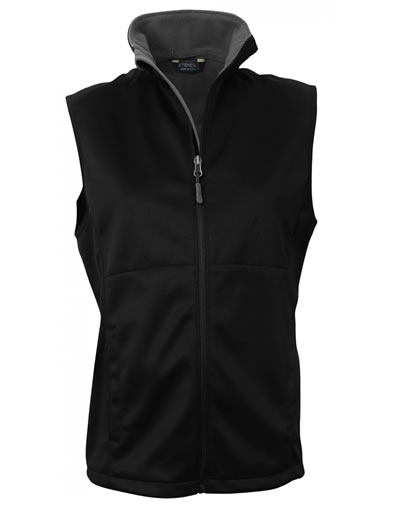 3147 BONDED SOFTSHELL VEST JACKET - Ladies